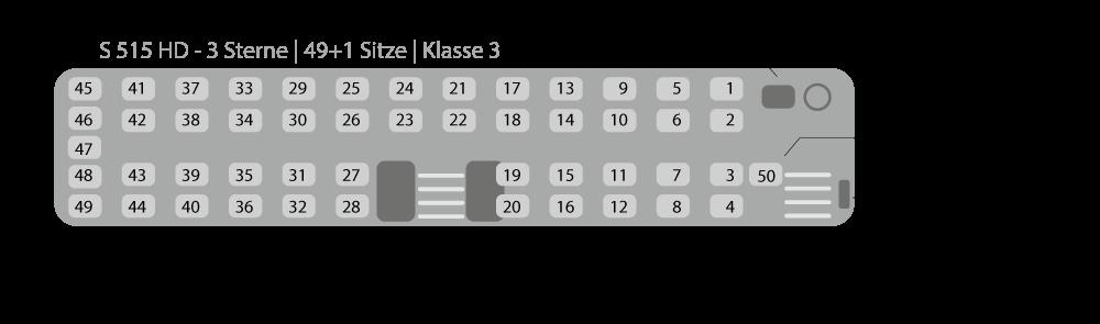 Sitzplan FO-DK 515 (S-515-HD)