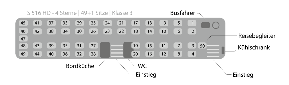 Sitzplan FO-FK 516 (S-516-HD)